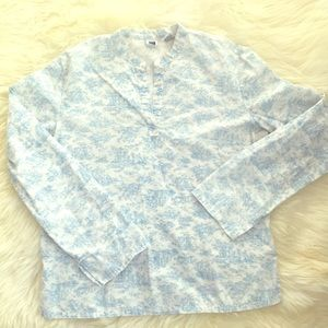 Gap Chinese Neck Cotton Blouse